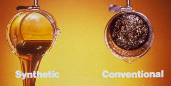 Waynes garage synthetic oils for Difference between synthetic and conventional motor oil